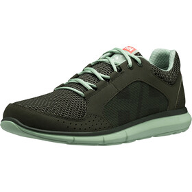 Helly Hansen Ahiga V3 Hydropower Zapatillas Mujer, forest night/cameo green/neon coral